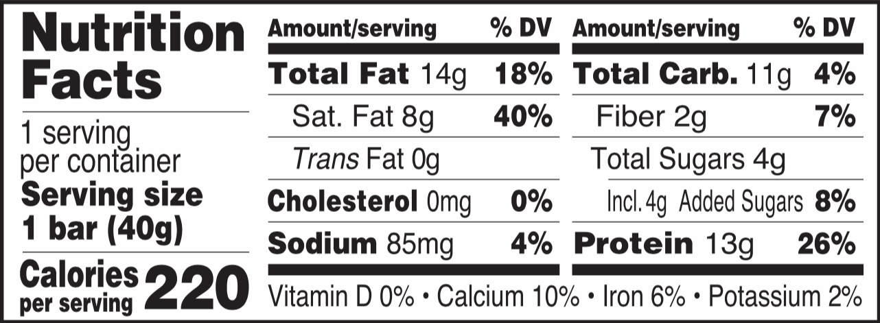 Good and Fit Peanut Butter Label